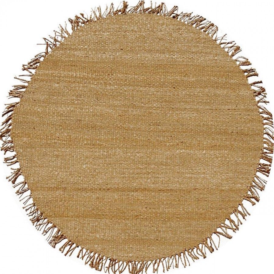 Acura Rugs Jute Natural Contemporary Round Rug Gr 104b