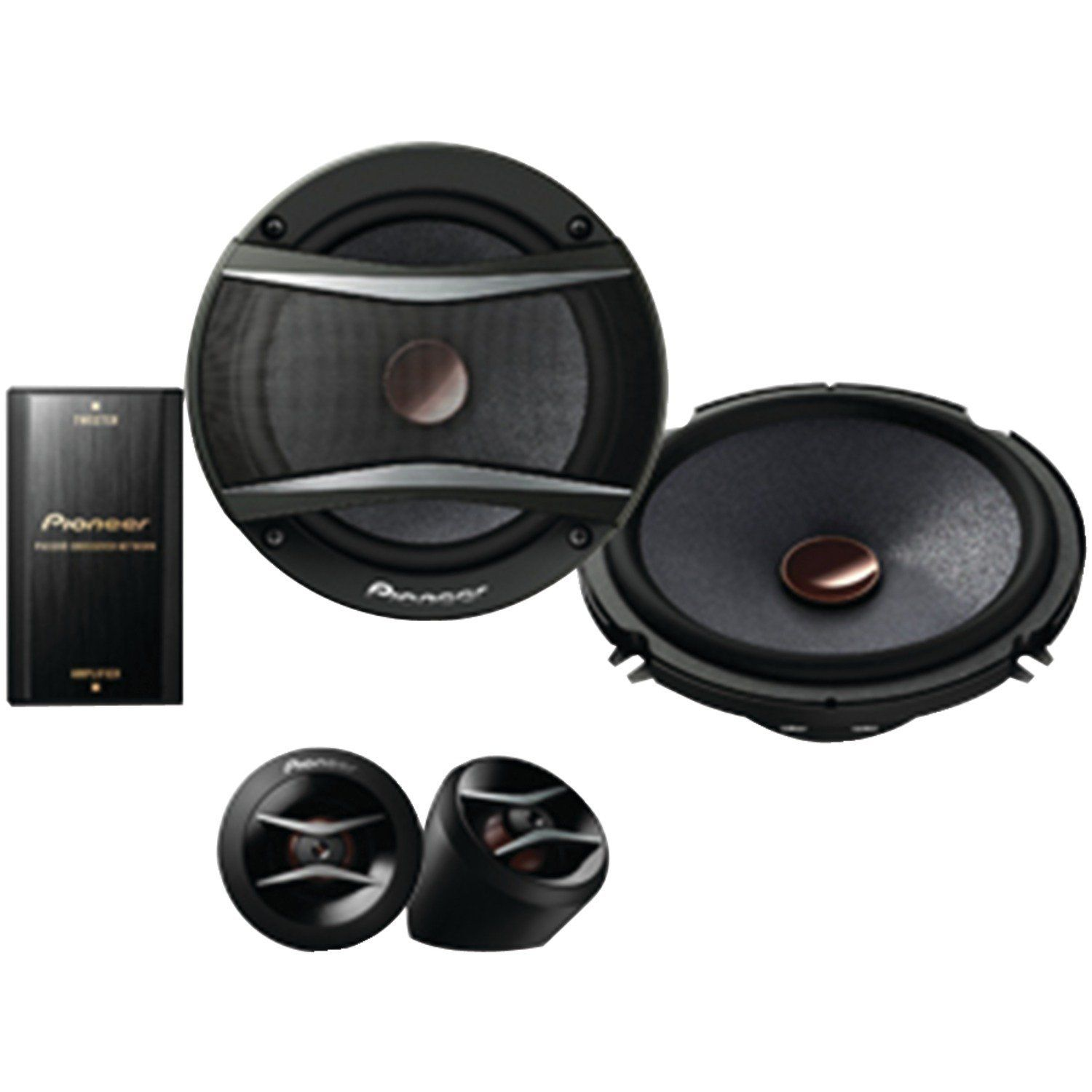 Pioneer music system pioneer ts a1606c a series 6 5 350w component speakers