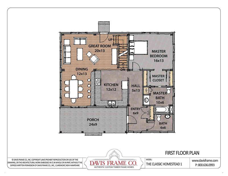 Classic Homestead 1 - Davis Frame. 3 bed 2 1/2 bath floor plan ...