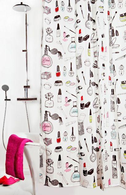Makeup Mascara Shower Curtain