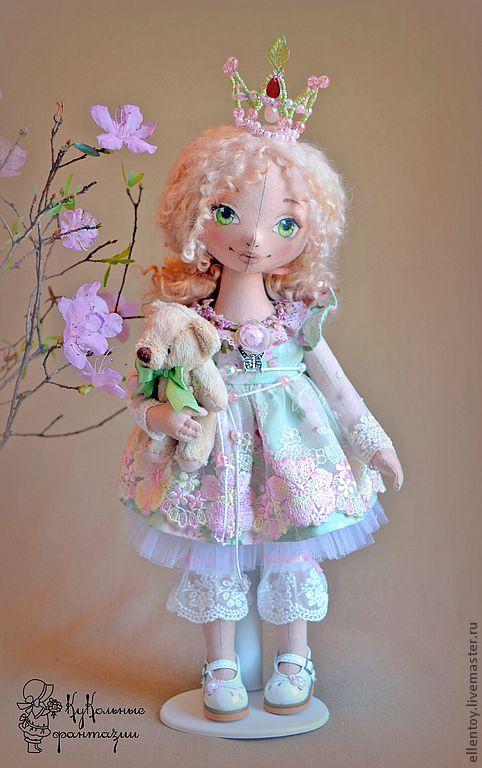 Muñecas de colección hechos a mano.  Masters Feria - hecho a mano muñeca de la princesa Primavera.  Hecho a mano.