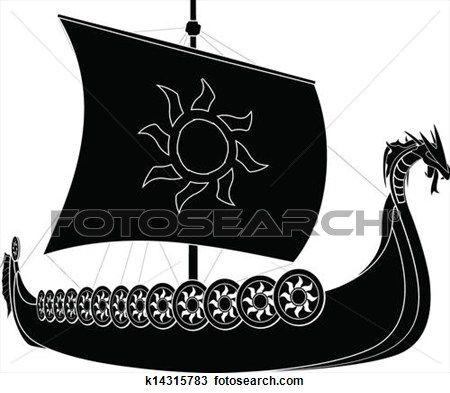 Viking Ship Clip Art K10371649 Viking Ship Viking Art Vikings