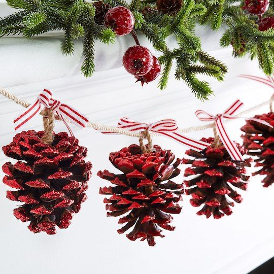 Pine Cone Christmas Garland Http Www Michaels M Outdoor Decorationschristmas
