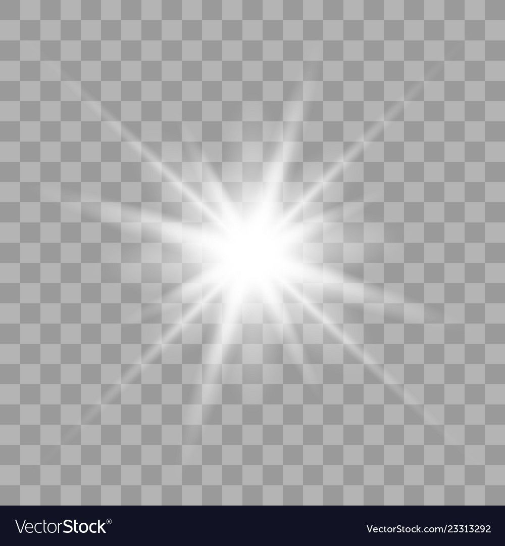 White Glowing Light Burst Explosion With Transparent Vector Illustration For Cool Effect Decoration With Ray Spar Bright Stars Vector Illustration Transparent