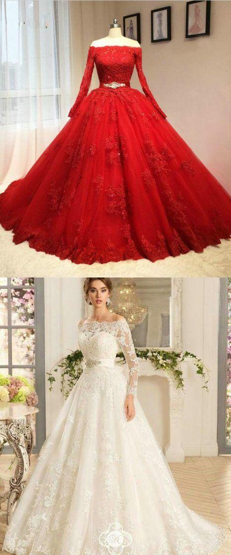 Ball Gown Lace Wedding Dress Off Shoulder Neckline Lace Bridal