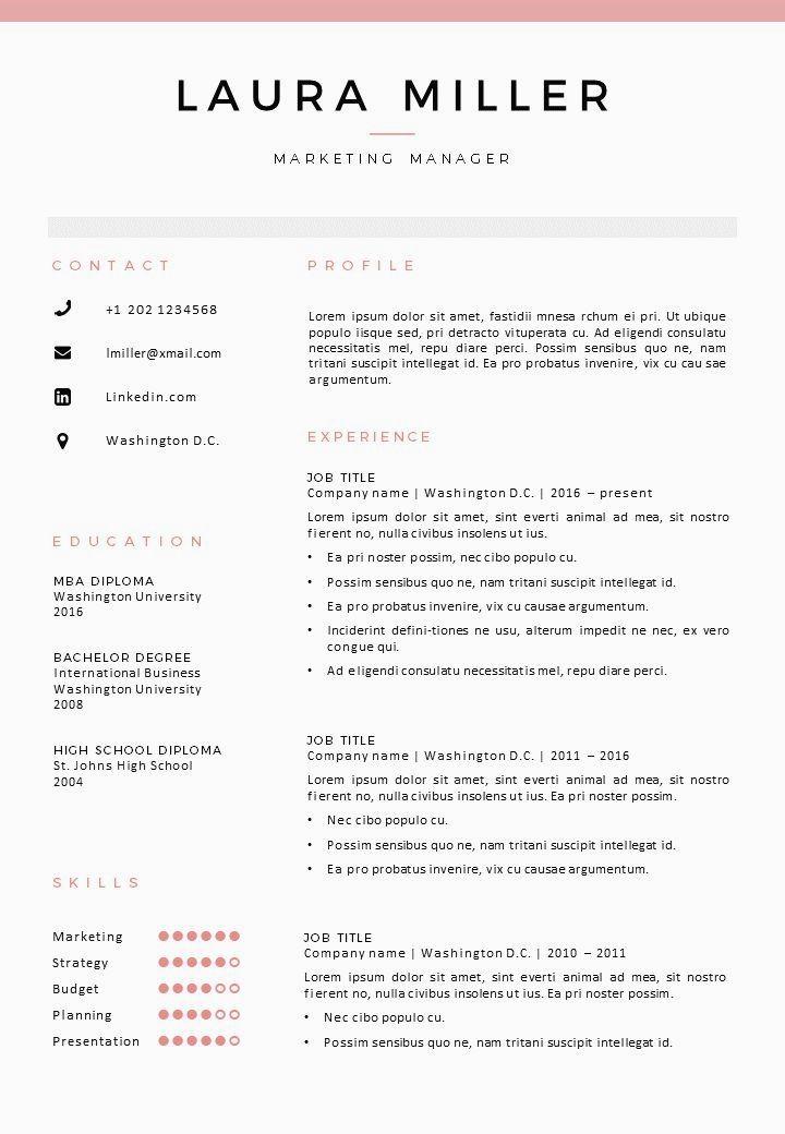Resume Template Mckinley Resume Tips Resume Design