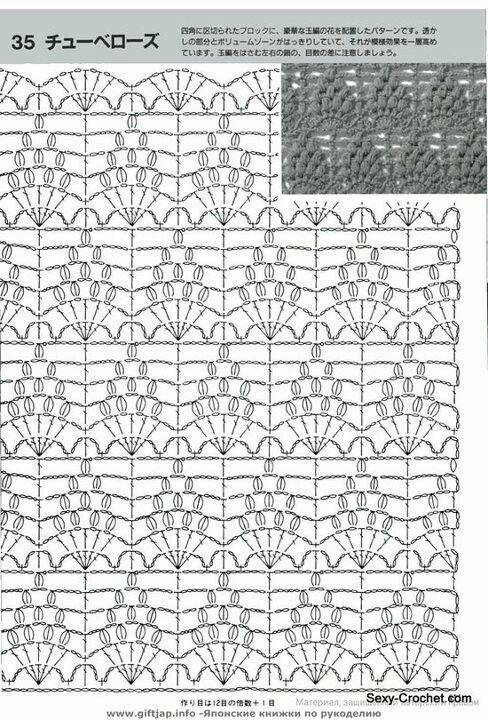 Pin de Sandy Cardona en patrones tejido | Pinterest | Puntos ...