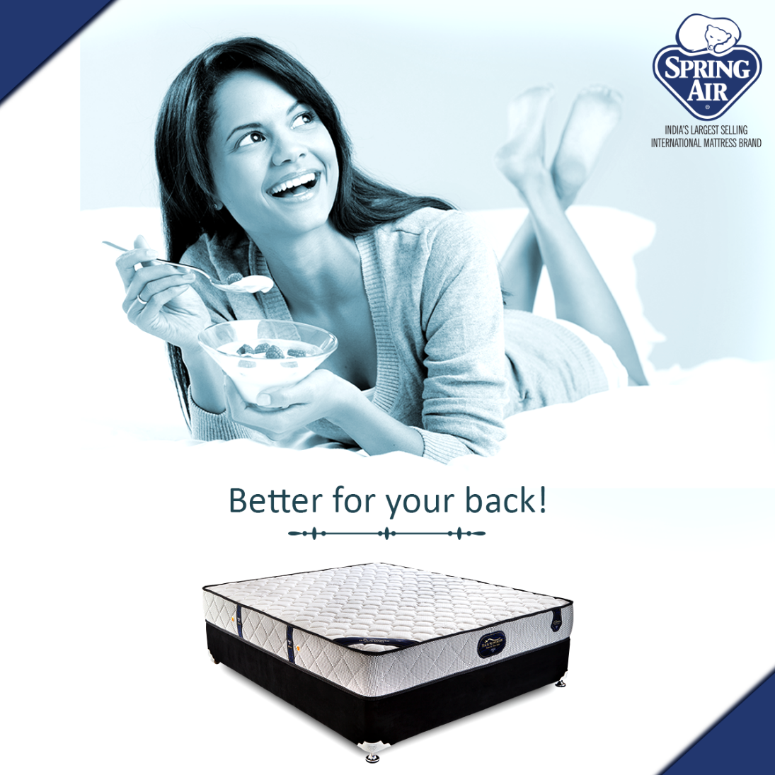 the back supporter mattress series offers you a combination of