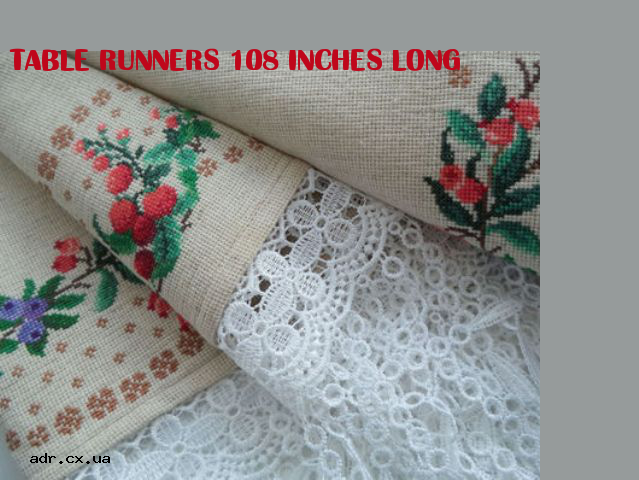 Table Runners 108 Inches Long