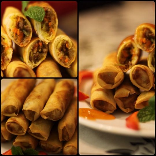 How to Cook Asian Lamb and Beef Spring Rolls by Micho Nicolas