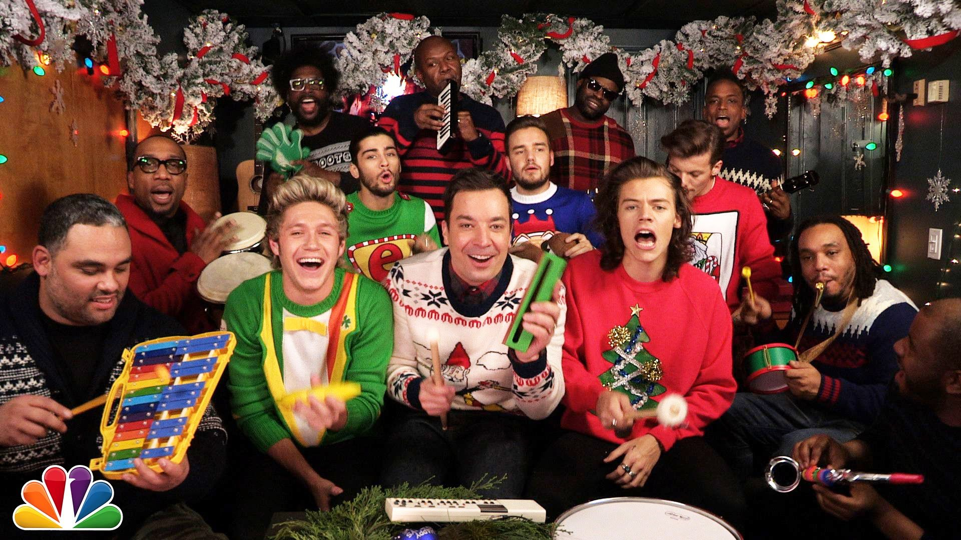 Jimmy Fallon, One Direction & The Roots sing