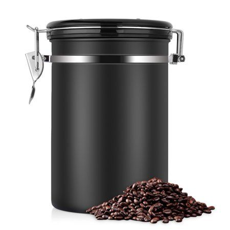 Eecoo Coffee Container Large Airtight Stainless Steel Container