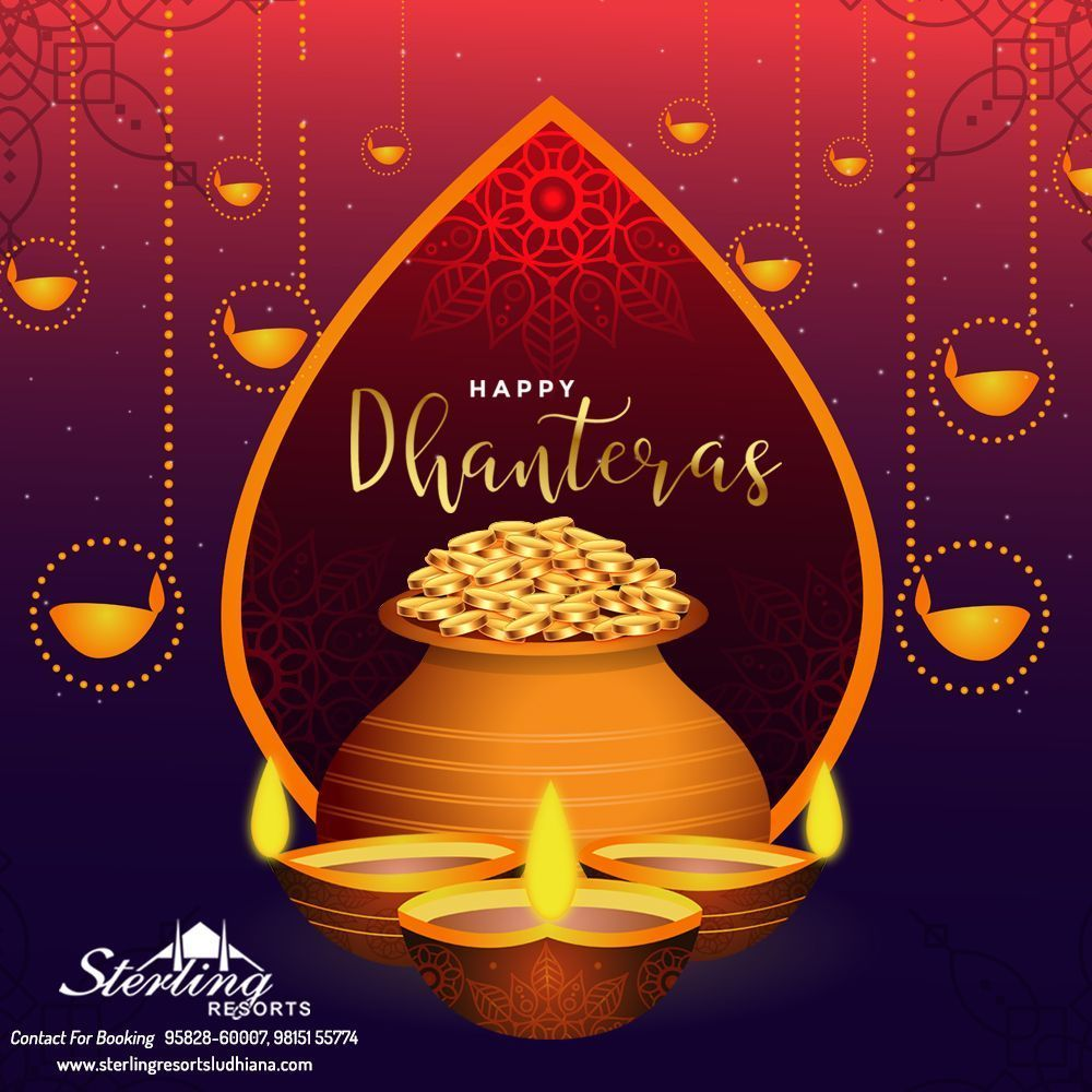 Happy Dhanteras  #dhanteraswishes May the occasion of dhanteras bring along the most precious wealth for you and your family.wishing you a very Happy Dhanteras.  #HappyDhanteras #Dhanteras2019 #Diwali #DhanTerasWishes #Dhanteras #धनतेरस #ShubhDhanteras #Dhanterasspecial #luxurywedding #weddingvenue #luxuryweddingvenue #glamourwedding #weddingdreams #weddingdecor #weddingstyle #weddingflowers #Sterling #Resort #Ludhiana #Marriagepalace #dhanteraswishes Happy Dhanteras  #dhanteraswishe #happydhanteras