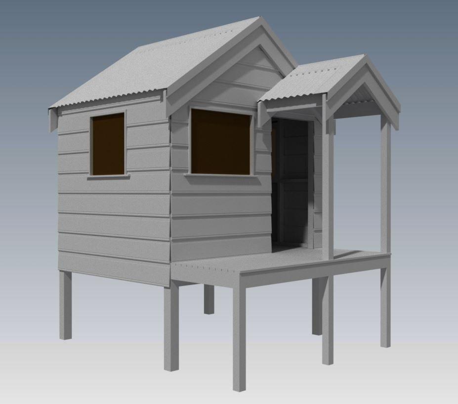 Cubby House Designs - EzeBuilt | Cubby houses, House ...