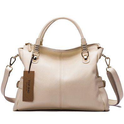 5e7f5d56d1 TOP-BAG Exquisite Women Ladies  Genuine Leather Tote Satchel Shoulder  Handbag