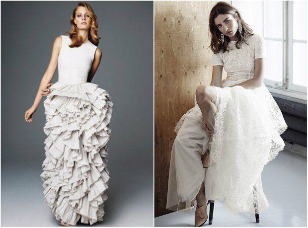 Jedna Suknia Slubna To Za Malo W Nowej Kolekcji H M Conscious Sa Az Trzy A Takze Suknia Balowa Wedding Dresses Lace Fashion Dresses