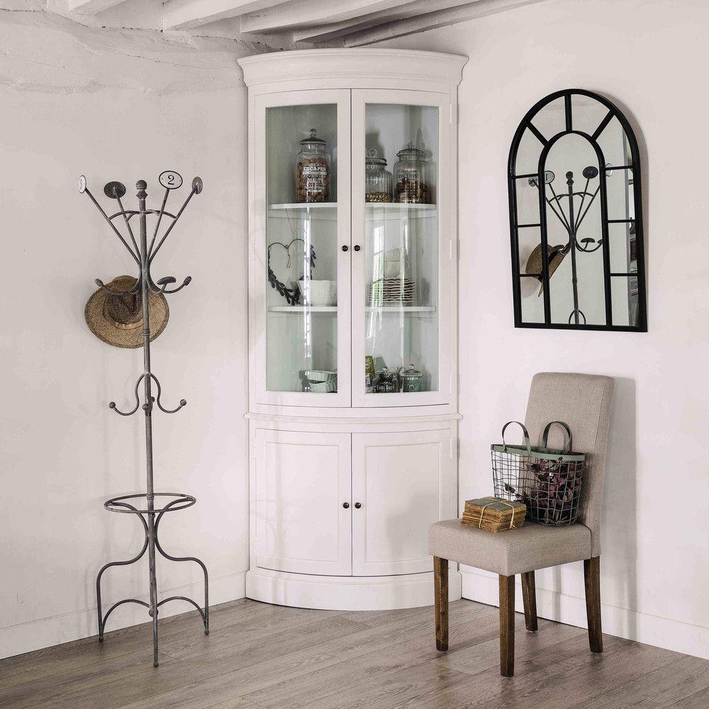 Mueble Esquinero De Madera Blanca An 68 Cm Madera Esquineros Y  # Muebles Esquineros Para Sala