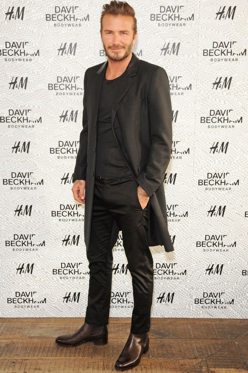 4ebc45aadf David Beckham Attends H&M Swimwear Launch at Shoreditch House ...