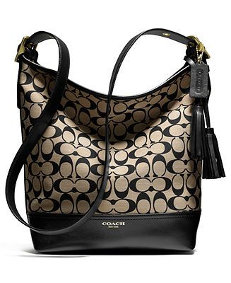 Coach Legacy Duffle In Printed Signature Fabric Handbags Accessories Macy S