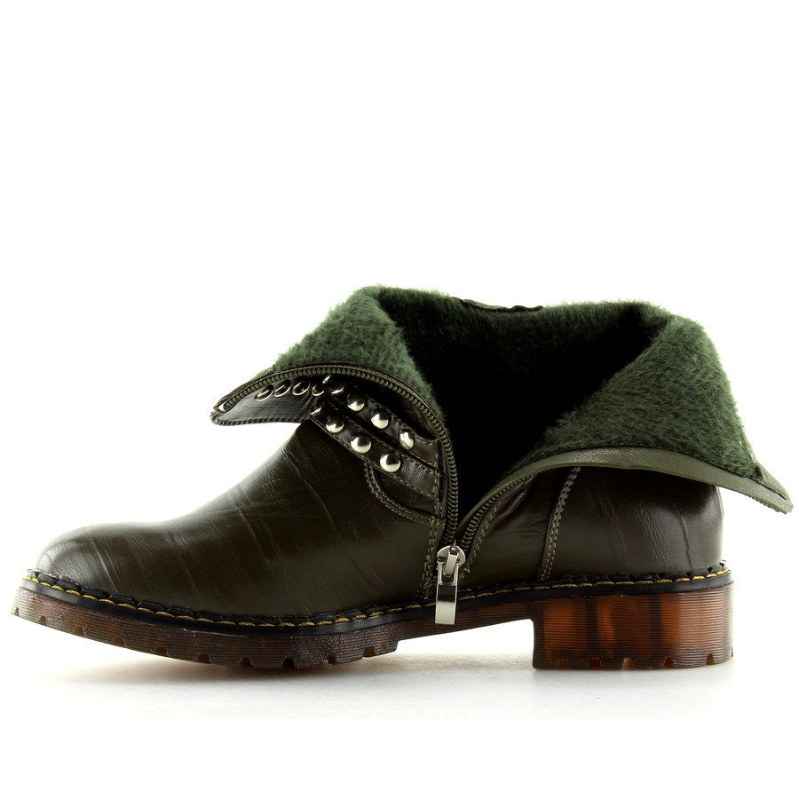4b568433942c5 Botki militarne zielone A-30 Green   Botki damskie   Shoes, Boots i ...