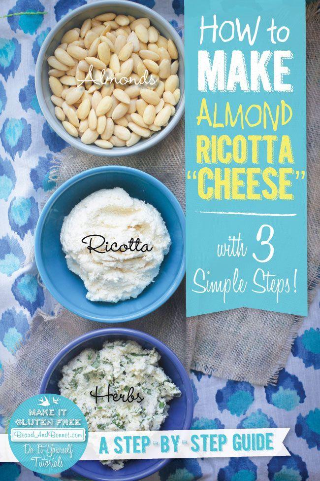 """How To Make Almond Ricotta """"Cheese"""" recipe { @beardandbonnet www.beardandbonnet.com }"""