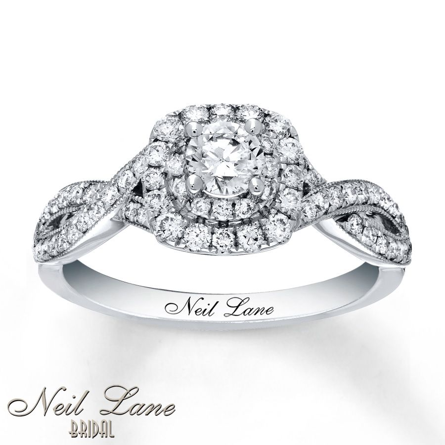 Neil Lane Engagement Ring 7/8 ct tw Diamonds 14K White