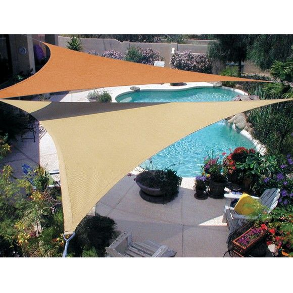 coolaroo outdoor shades coolaroo triangular shade sail product