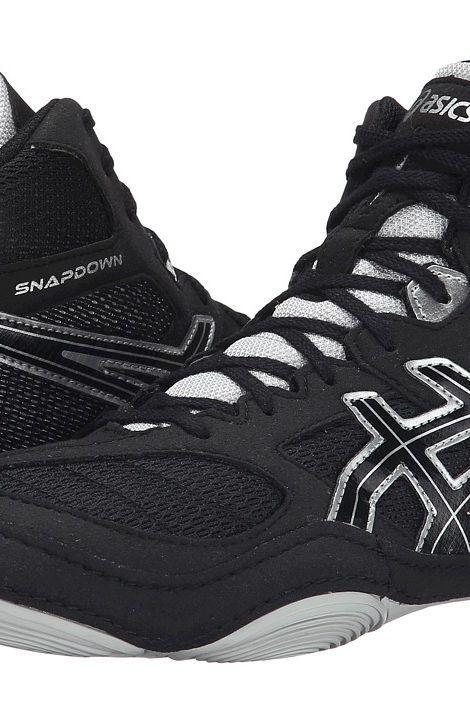 ASICS Snapdown (Black/Silver) Men's Wrestling Shoes - ASICS, Snapdown, J502Y