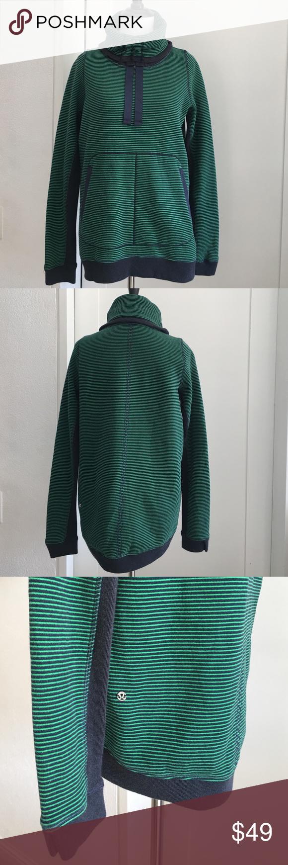Lululemon Green Blue Striped Turtleneck Sweater 4 | Lululemon and ...