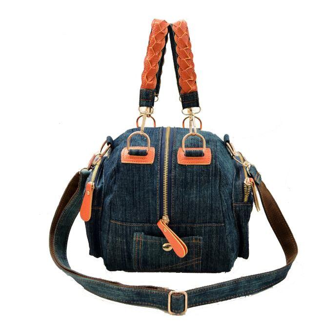 69771e941d Wholesale 2016 New Casual Women Denim Bag Women Small Shoulder Bags Vintage  Blue Jeans Crossbody Bag