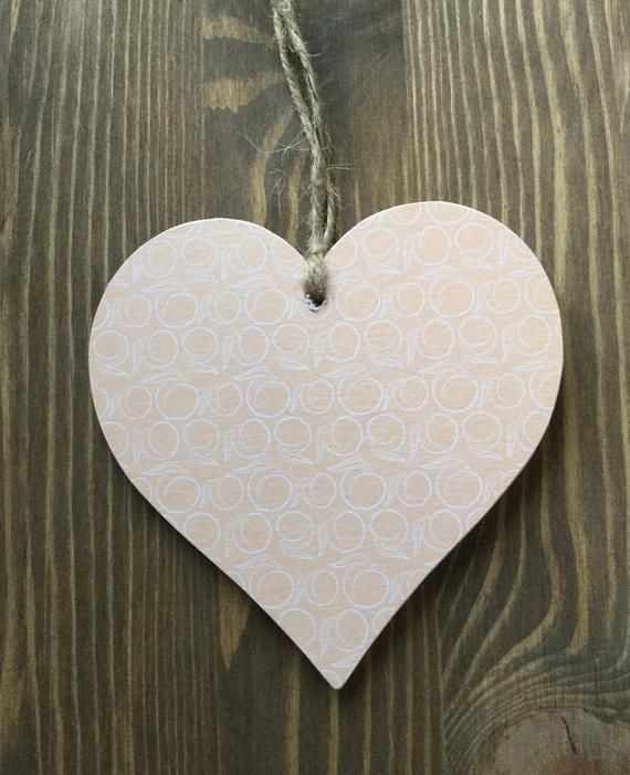 Guess how much I love you 10cm Decoupage Wooden heart / keep sake gift / for him / for her / mothers
