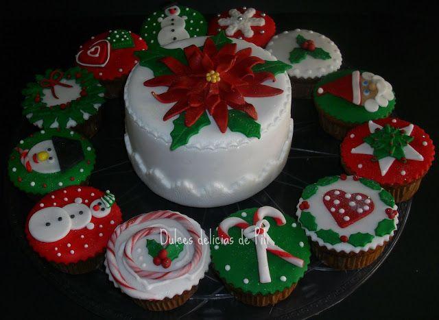 Torta De Navidad De Cupcakes Torta Navidad Tortas Cupcakes De Navidad