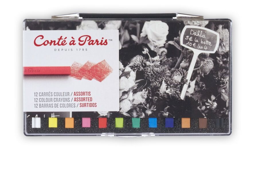 Conte A Paris 12 Assorted Colour Carres Crayons