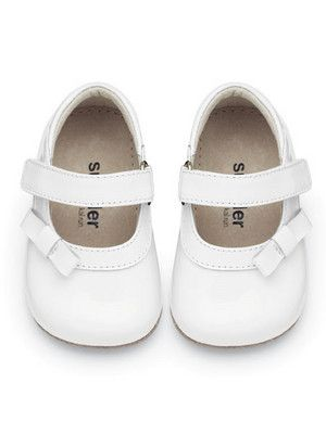 c94d518f9f045 See Kai Run Baby Girls Victoria White Patent Mary Jane Shoes