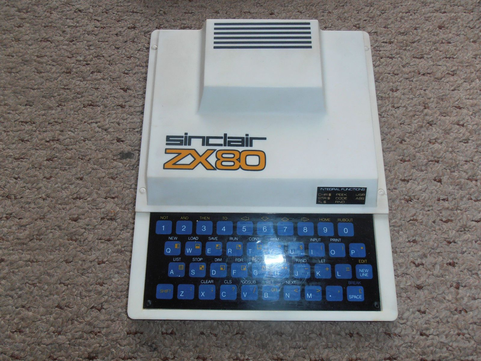 Sinclair ZX80 RARE Vintage Computer Poly Box Working | eBay