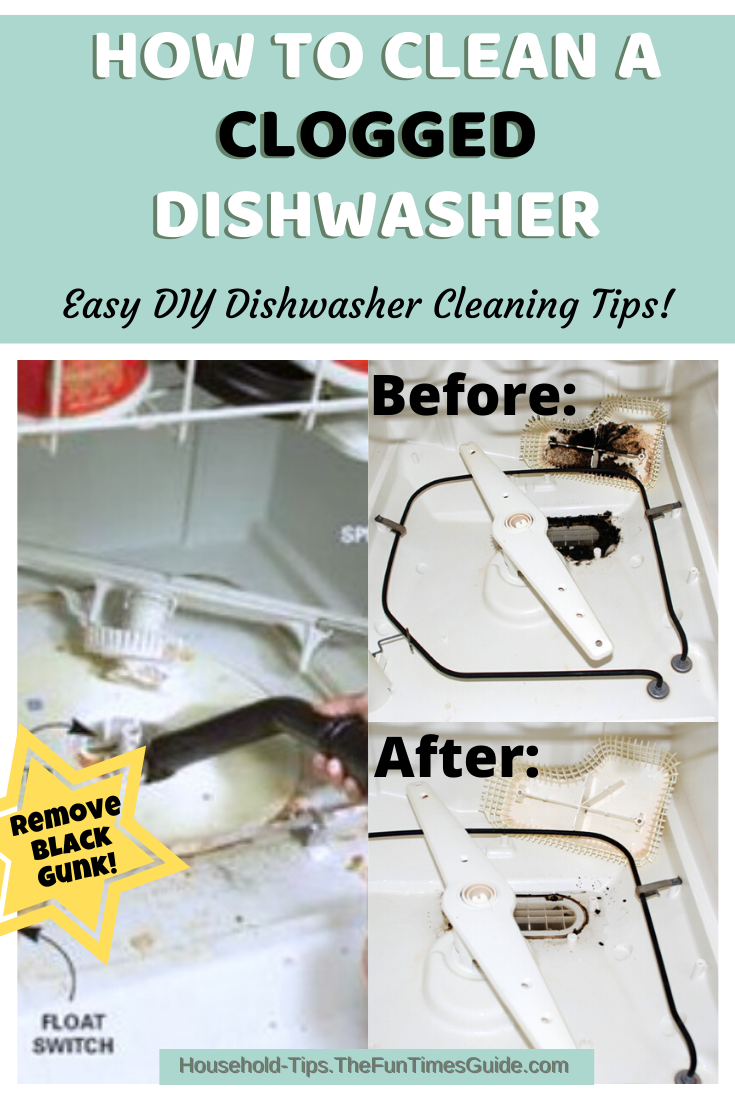My Old Dishwasher Runs Like New Again After Cleaning Out All That Black Gunk Clogged Dishwasher Dishwasher Cleaning Tips Cleaning Hacks