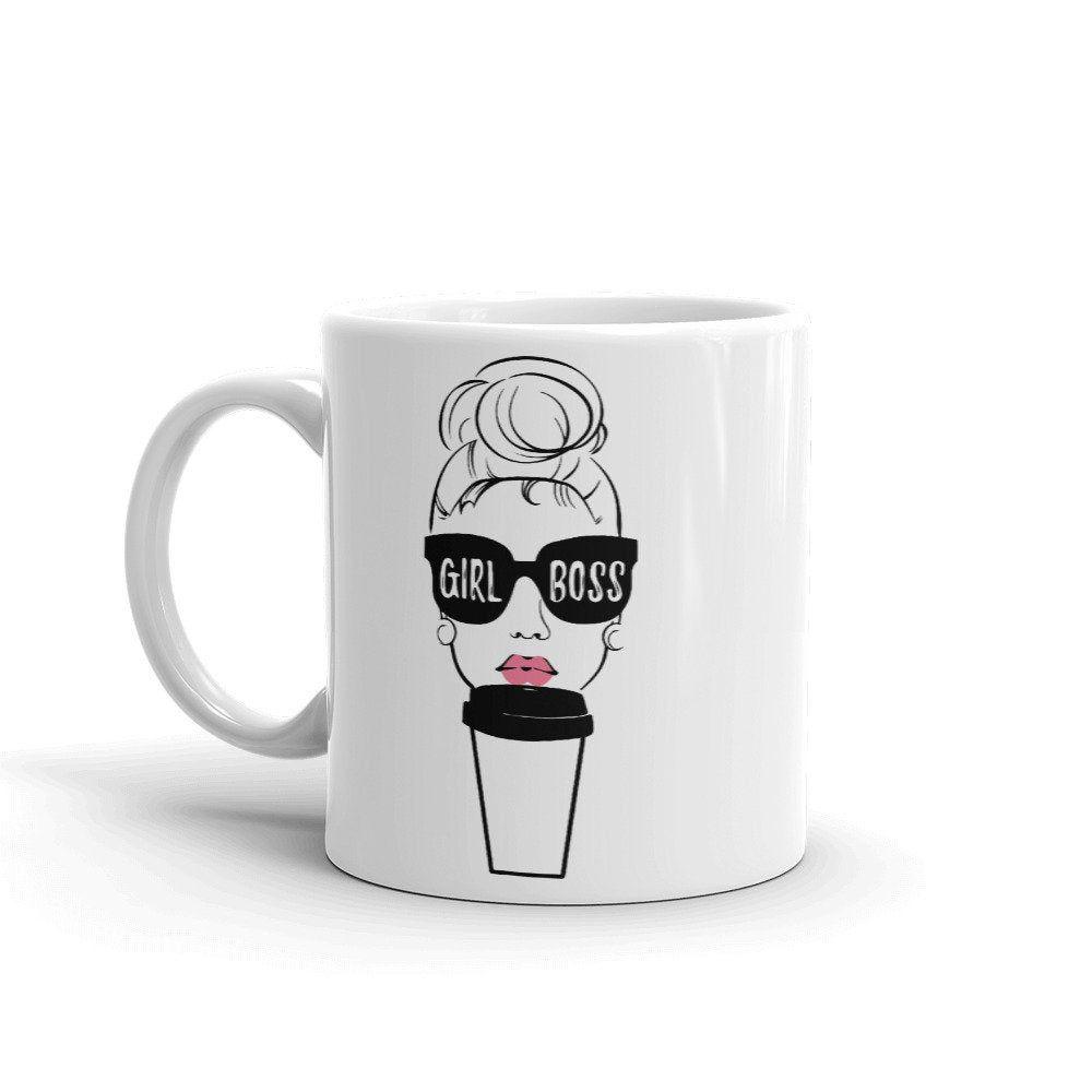 Girl Boss / Coffee Mug / Made in USA & Europe / Funny Art   Etsy
