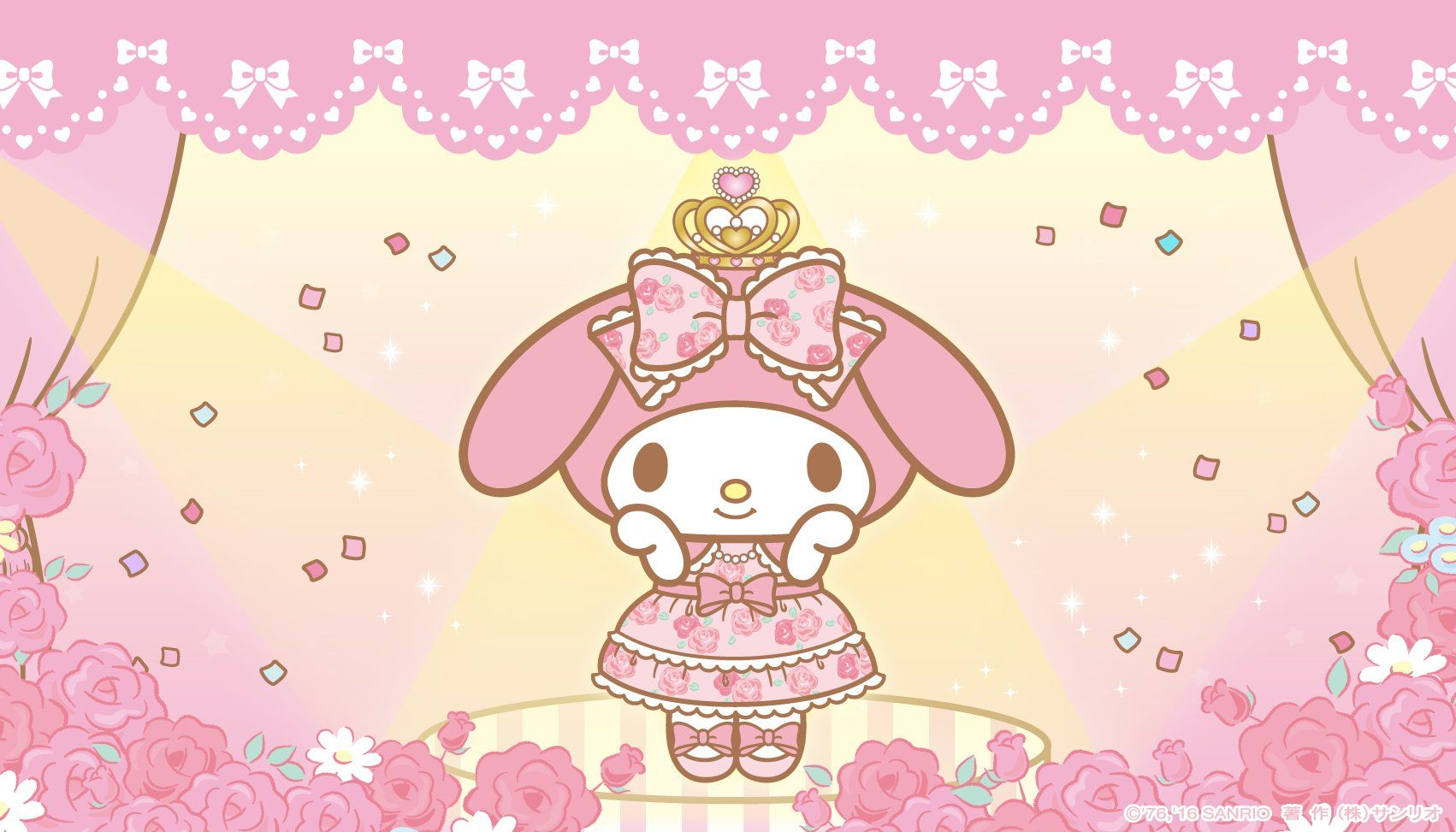 Cute Saying Hd Wallpapers My Melody Desktop Wallpaper Wallpaper Kawaii