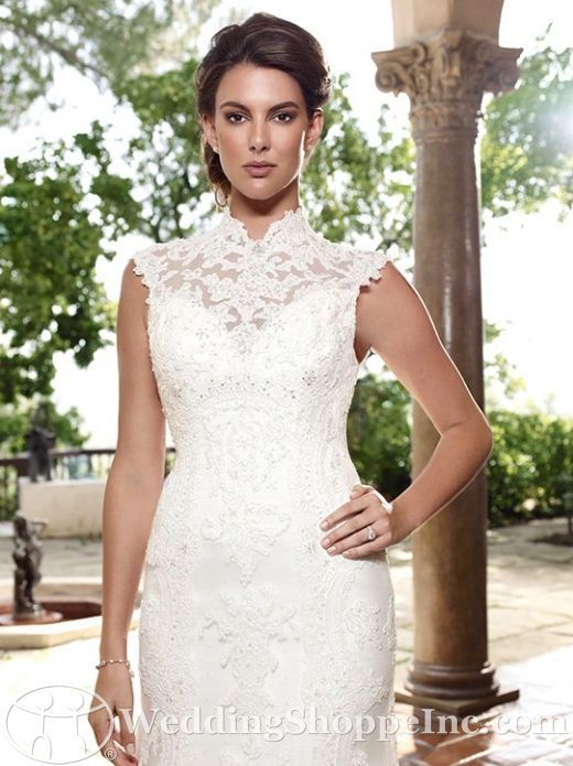 Not sure about the height of the neckline but love the lace ...
