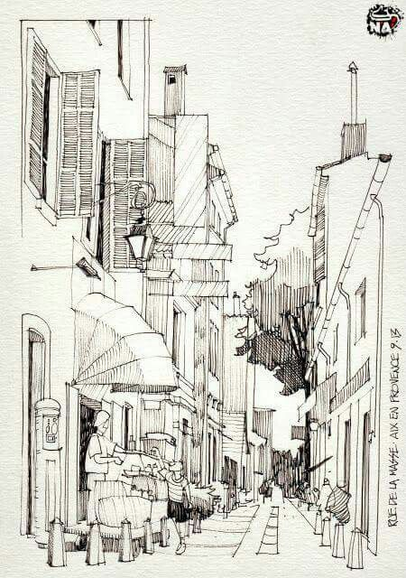 Architektur Skizzen Student Aufsatz Studie Aquarelle Tagebuch Ideen Join Wasserfarben