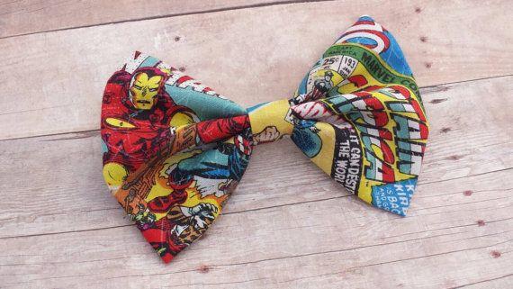 Marvel Superhero Comic Book Print Hair Bow Clip / Marvel Hair Bow / Avengers Hair Bow / Superhero Bow Clip / Comic Book Hair Bow Clip