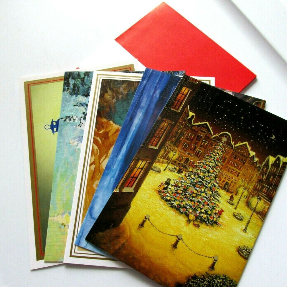 Details About Lot 5 Christmas Greeting Cards By Mouth Foot Painting Artists Mfpa W Envelopes In 2020 Christmas Greeting Cards Christmas Greetings Xmas Greetings