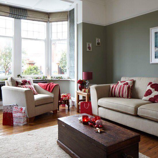 Such a cozy looking family room | Beige living rooms, Grey ...