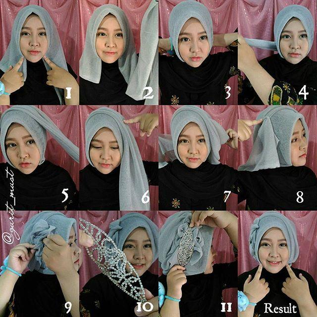 Tutorial Hijab Segi Empat Double Edukasi Lif Co Id