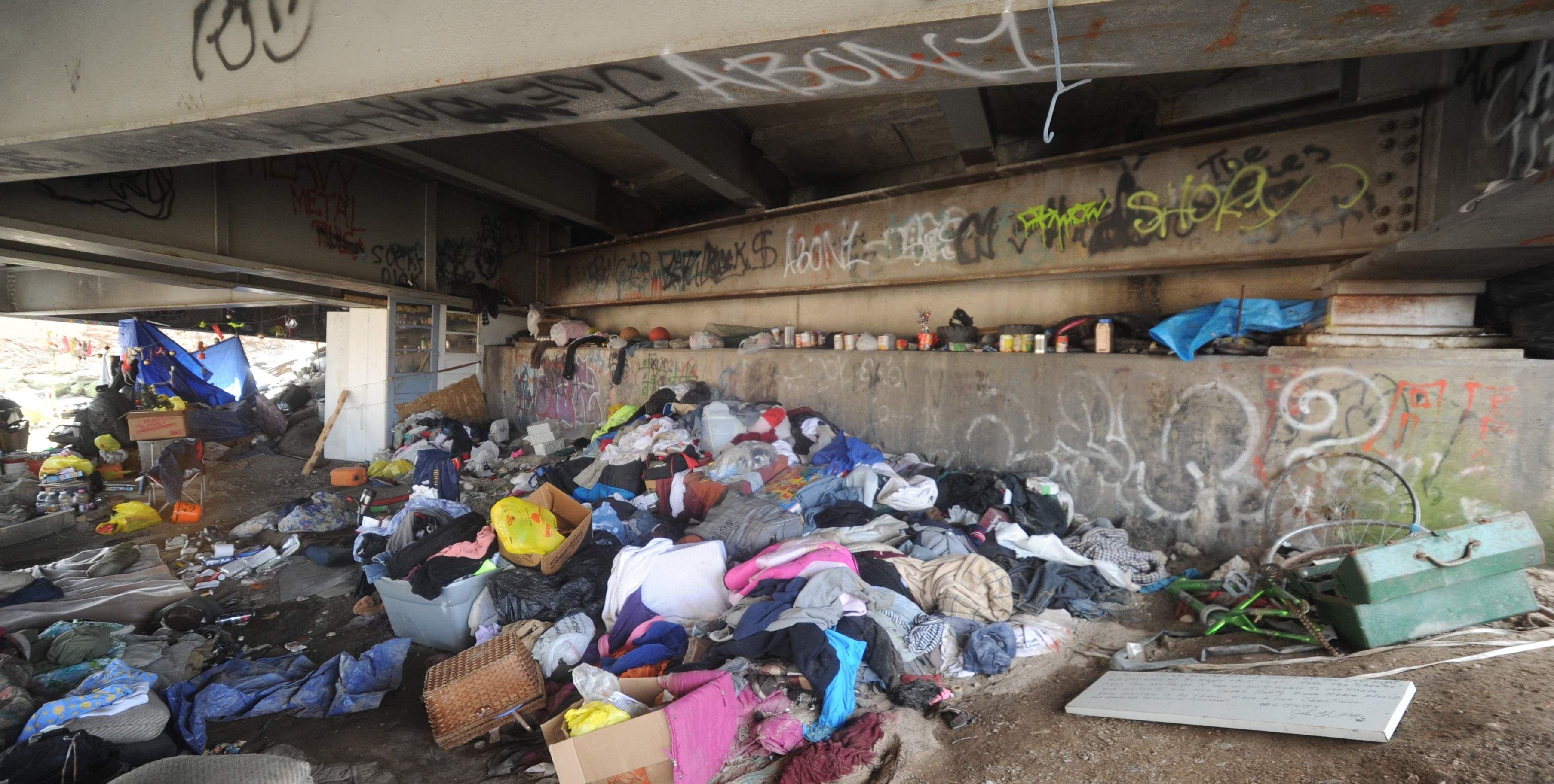 Monroe County S Homeless Through The Cracks And Under The Bridge Under Bridge Homeless Bridge Art