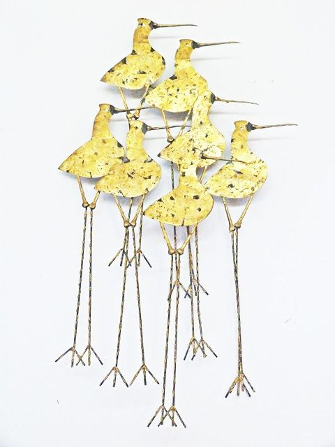 Curtis C Jere SANDPIPERS Vintage modern Wall Art Sculpture Shore ...