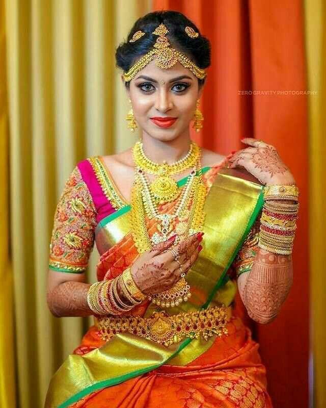 Wedding Sarees For Bride Kerala Hindu: Pin By Nature On South Indian Bride