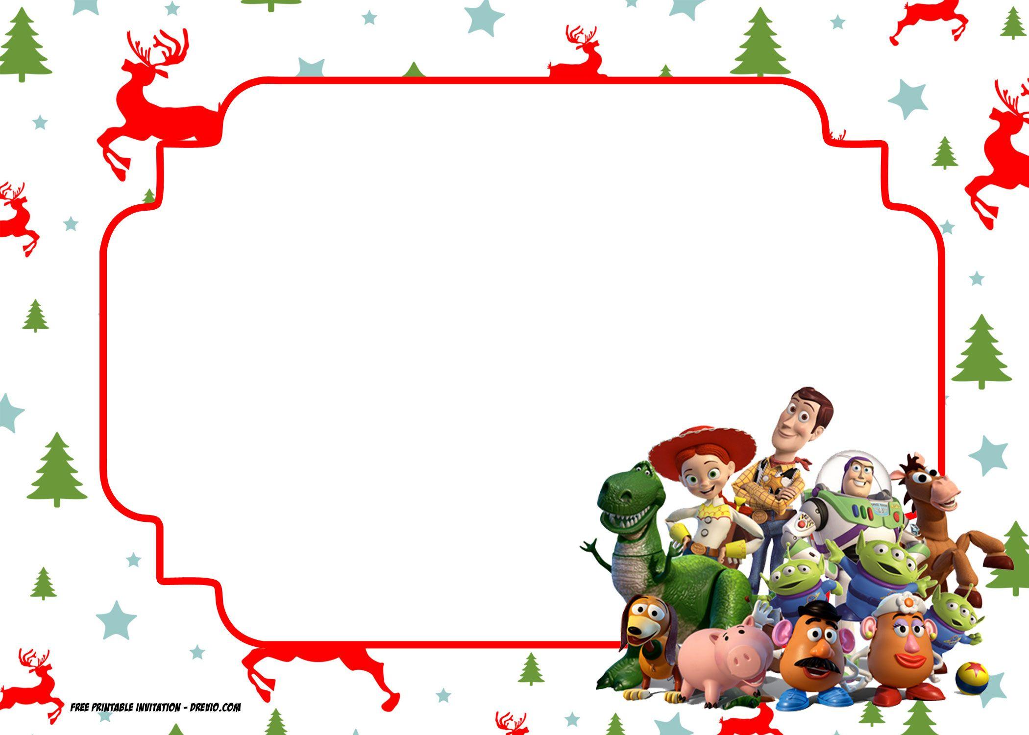 free printable christmas invitation template all characters