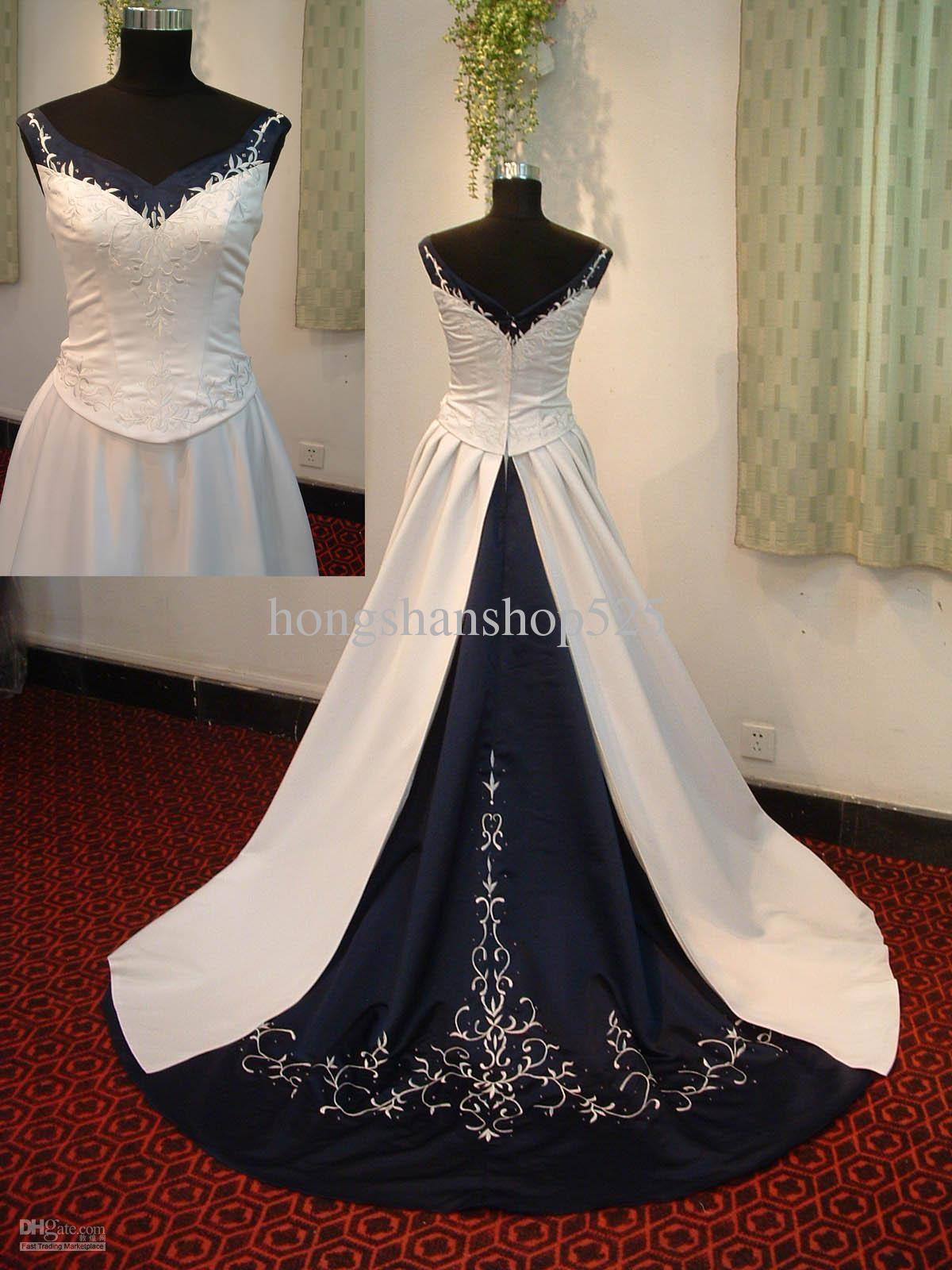 A line v neck spaghetti bluewhite wedding dress 11582 dhgate a line v neck spaghetti bluewhite wedding dress 11582 dhgate ombrellifo Gallery