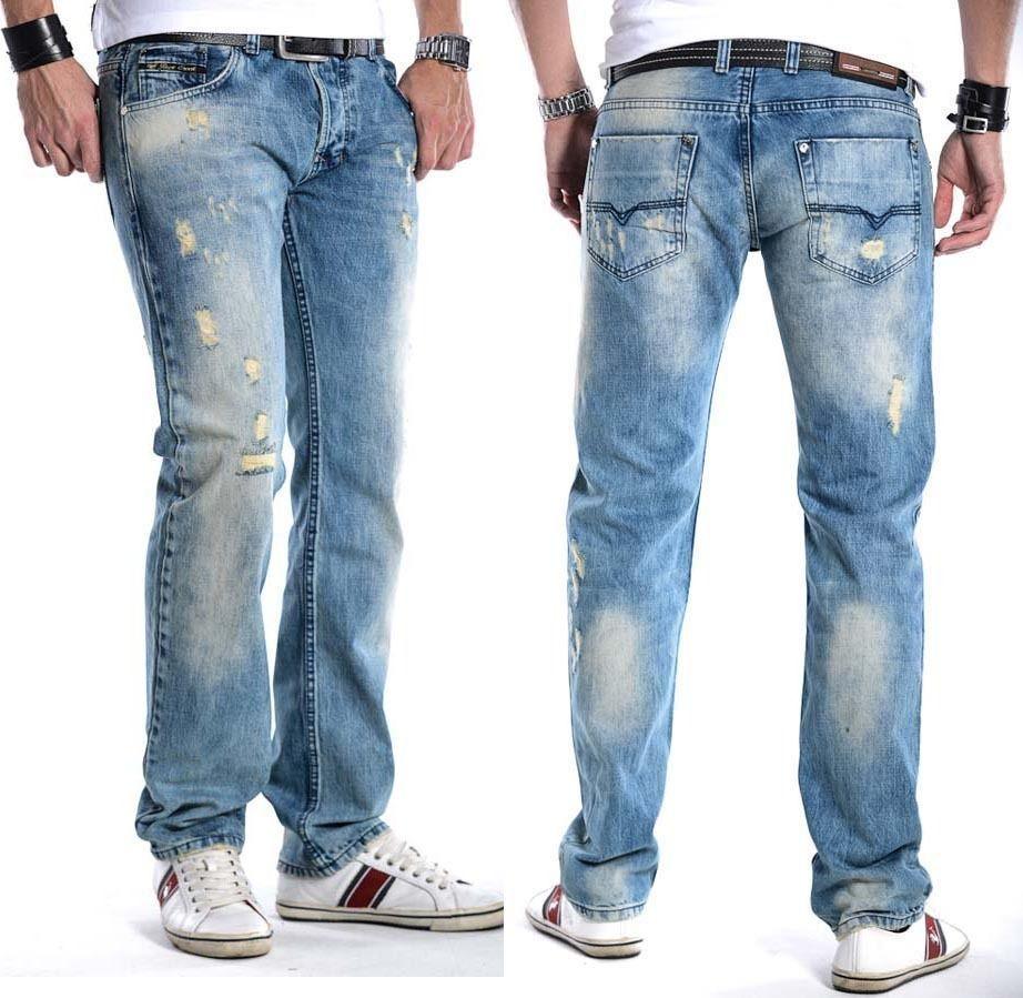 Details zu Rock Creek Herren Jeans Denim Vintage Blautöne Laser Effekt  W30-W40 L32-L34 H202 5578b94511